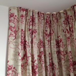 twin pleat headed curtains